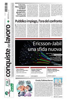 Prima pagina di Conquiste del 11 marzo 2015