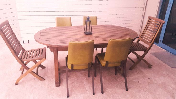 ...Beacon Hill...finding a new purpose for recycled chairs and wood...sanded and repainted