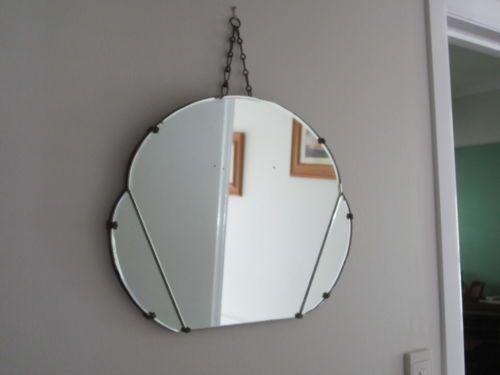 Stunning-ORIGINAL-ART-DECO-Mirror-Original-Chain