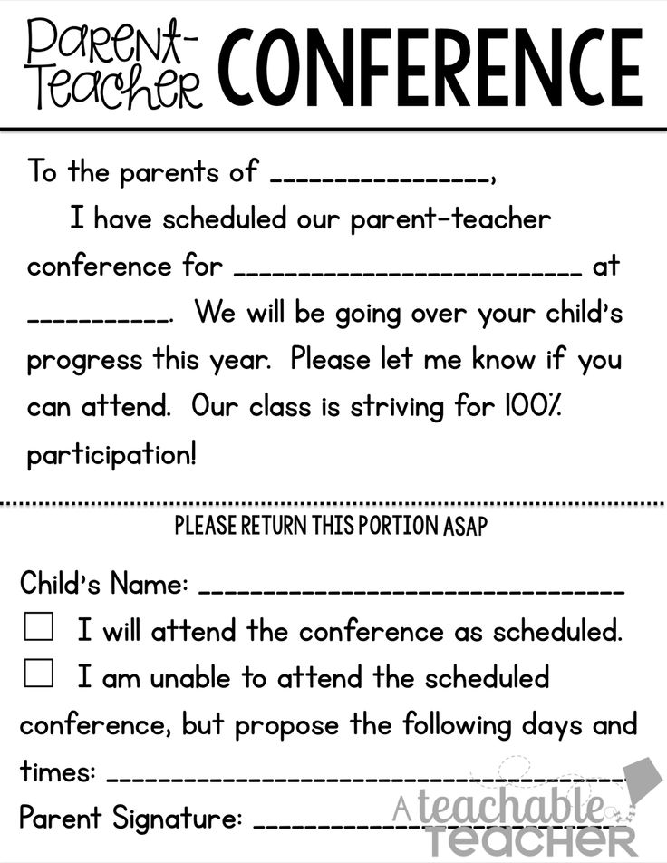 27 best Kindergarten - Conferences images on Pinterest School - conference sign up sheet template