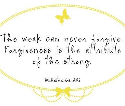 Forgiveness is so hard sometimes...something I need to improve on