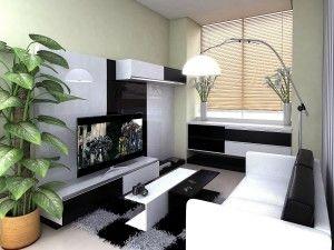 Inspirasi desain ruang keluarga dengan aksen hitam putih yang cantik