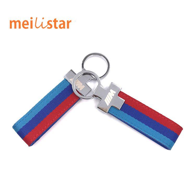M Tech M Sabuk Kulit Olahraga Chrome Keyring Keychain Untuk BMW E46 E39 E60 F30 E90 F10 F30 X1 X3 X5 E53 E30 E34 E36 M3 M5 Kunci Cha