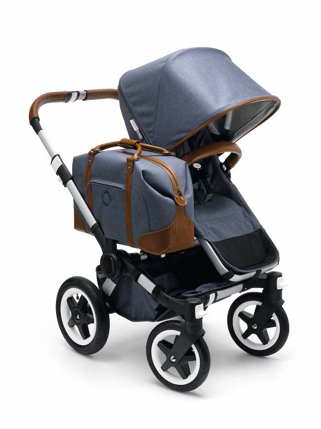 Luxury double strollers: Bugaboo's limited edition Weekender Donkey model comes with its own luggage. Gorgeous.