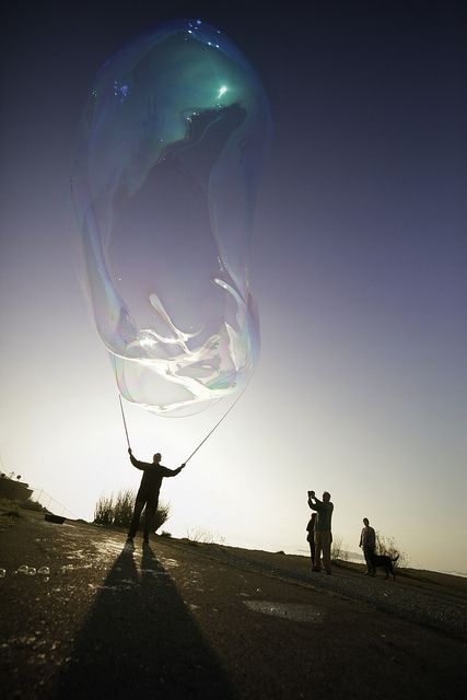 Giant Soap Bubble at Sunset
