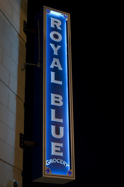 Ion Art Inc. | Royal Blue Grocery Sign
