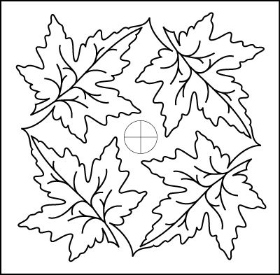maple leaf quilt pattern Maple Leaf Border Petite Set pantograph pattern by Patricia Ritter of ...