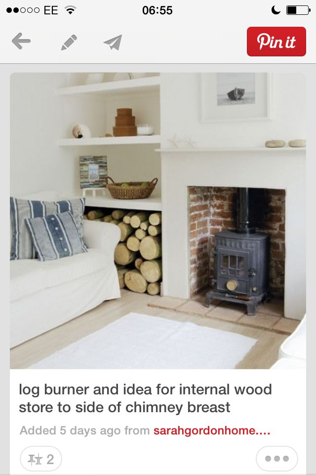 wood burner and wood storage