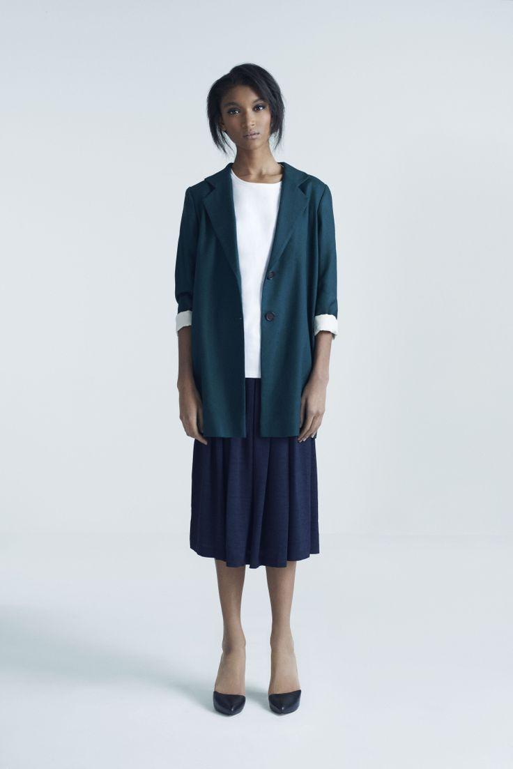 Gaby Coat, Boyfriend Top and Bella Skirt | Samuji Pre-Fall 2014 Collection