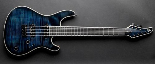 Mayones Regius 7m 7-string Trans Blue Burst Flamed Maple Seymour Duncan Pickups - http://www.7stringguitar.org/for-sale/mayones-regius-7m-7-string-trans-blue-burst-flamed-maple-seymour-duncan-pickups/24089/