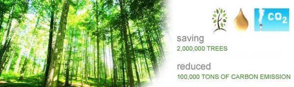 Salva de la tala de arboles y reduce las emisiones de CO2
