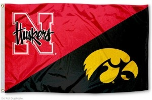 House Divided Flag - Iowa vs. Nebraska.  Day after thanksgiving in Lincoln! Be there or be square!