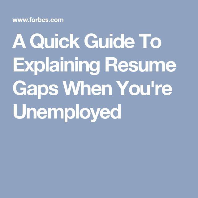 17 Best images about RESUME(s) on Pinterest - explaining gaps in resume