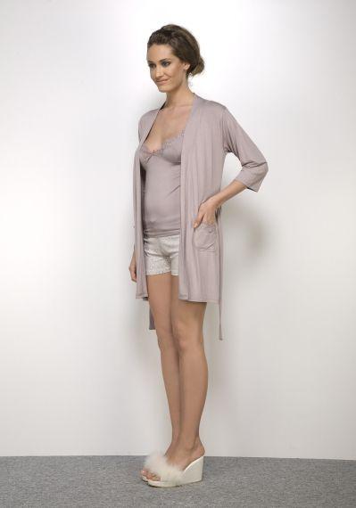 Hays Le-paro Bayan Sabahlıklı Şortlu Pijama Takımı... Daha fazlası için: www.haysshop.com