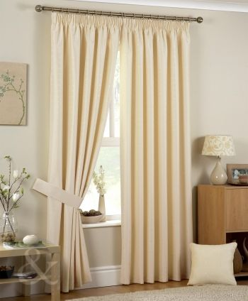 Luxury Jacquard Pencil Pleat Ivory Cream Curtain CurtainsPencilLuxuryLiving RoomIvoryProjects