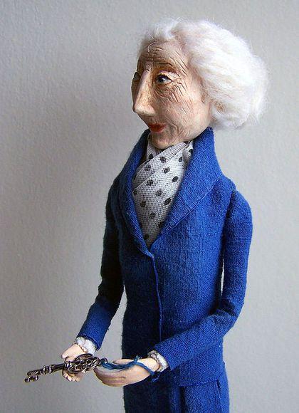 Коллекционные куклы ручной работы. Ярмарка Мастеров - ручная работа Кукла Мисс Марпл. Handmade.