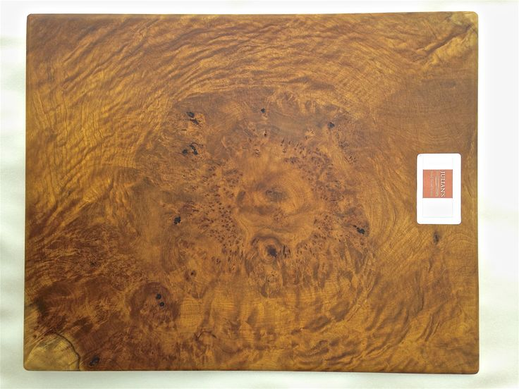 Camphor burl wood cutting board