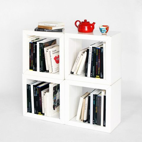 Elements – Karton Cardboard Furniture  Elements create infinite storage and display possibilities. Clever customers have discovered they are particularly good for storing your favourite vinyl LP's! Sold in a pack of four (available in kraft or white)