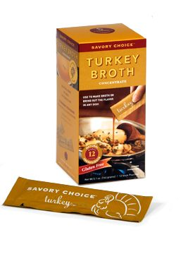 Savory Choice Turkey Broth Flavor Concentrate. I spoke to the manufacturer on 8/28/2014. This broth contains no onions, garlic or celery.