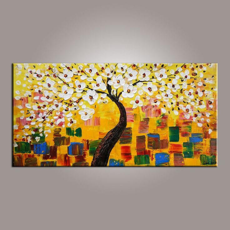 Abstract Art Painting, Painting on Sale, Flower Tree Painting, Canvas Wall Art, Dining Room Wall Art, Canvas Art, Modern Art, Contemporary Art