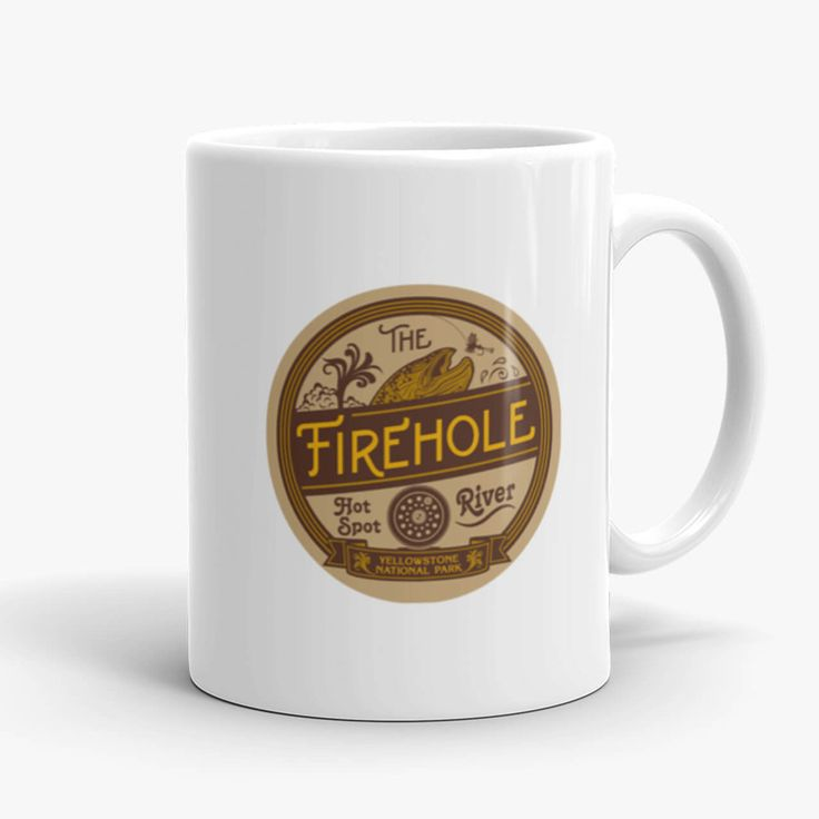 Savor and reflect upon the time you spent fly fishing Yellowstone's Firehole River. Take home a keep-sake mug of Yellowstone National Park. Mug designed by Montana Treasures, Bozeman, Montana. Shop now! https://montana-treasures.com/collections/mugs/products/mug