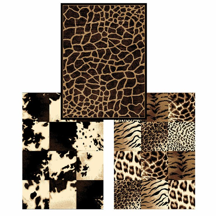 Transitional Safari Animal Print 8x11 Modern Area Rug: Actual 7u0027 ...