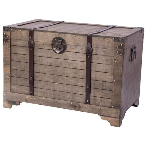 Buy Decorative Trunks Online At Overstock Our Best Decorative Accessories Deals In 2020 Storage Trunk Wood Storage Decorative Storage Trunks