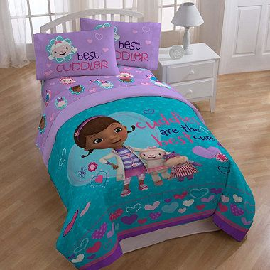 buy disney doc mcstuffins cuddles cares printed twinfull comforter from bed bath beyond
