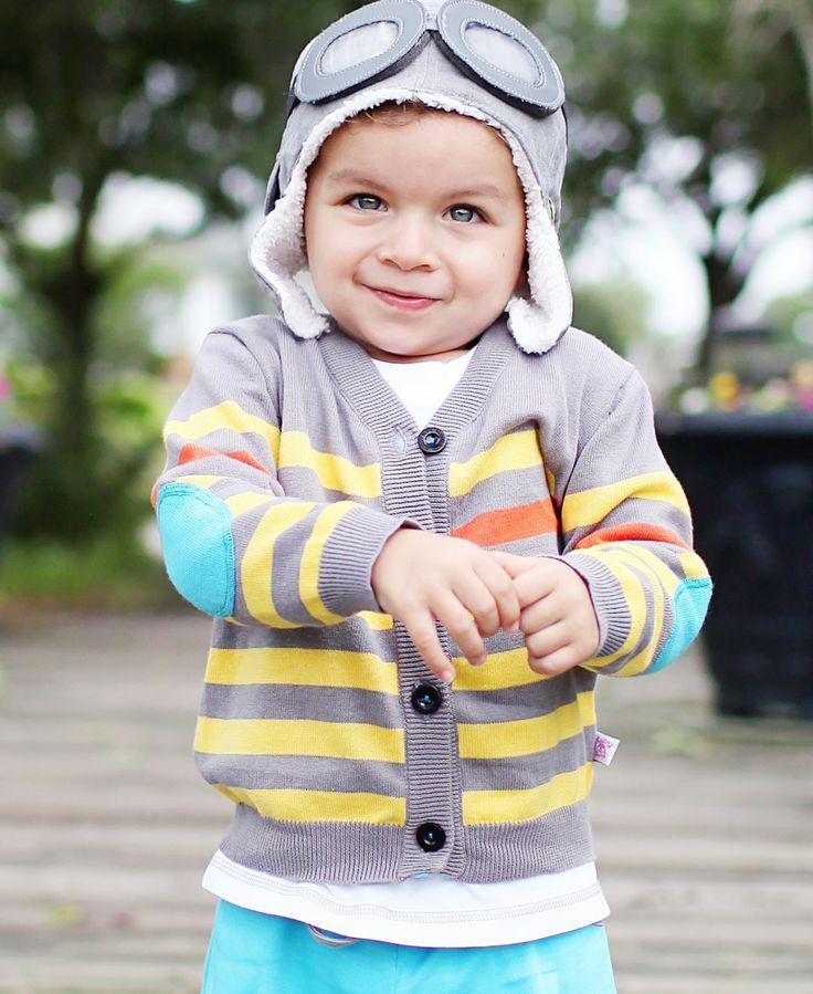 Gray Striped Spencer Cardigan
