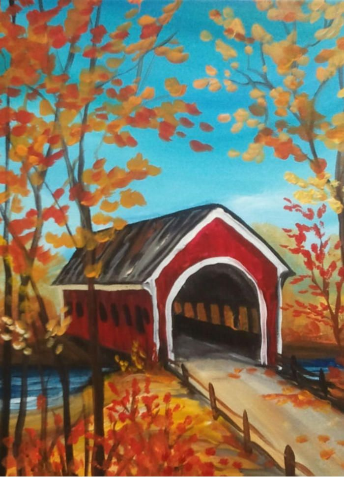 Best 25 fall paintings ideas on pinterest fall canvas for Fall paintings easy