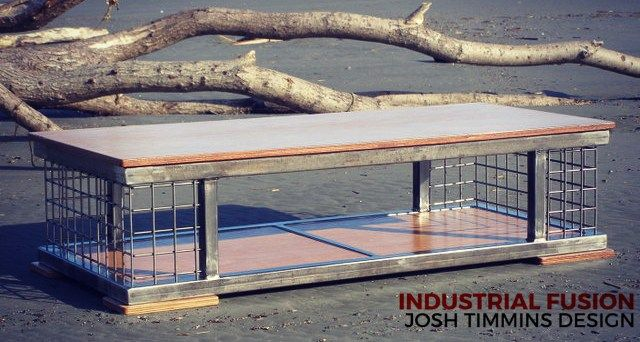 Cage Fighter Industrial Coffee Table