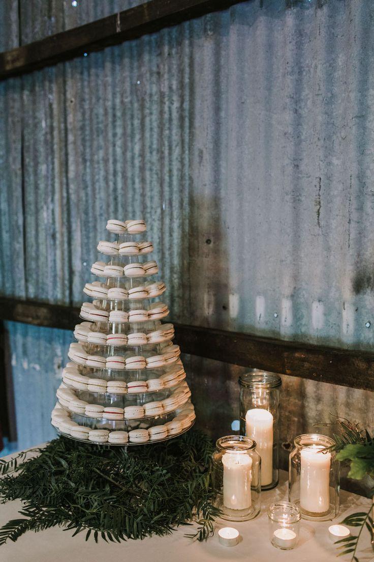 Brown Brothers Milawa Wedding Macaroon Tower Wedding cake Valley Blooms