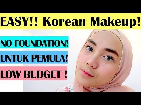 Tutorial Makeup Natural Wardah Untuk Sehari Hari Ala Korea Review Makeup Journey Magazine Makeup Reviews Korean Makeup Natural Makeup