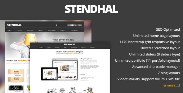 Stendhal - Portfolio & Corporate Theme - ThemeForest Item for Sale