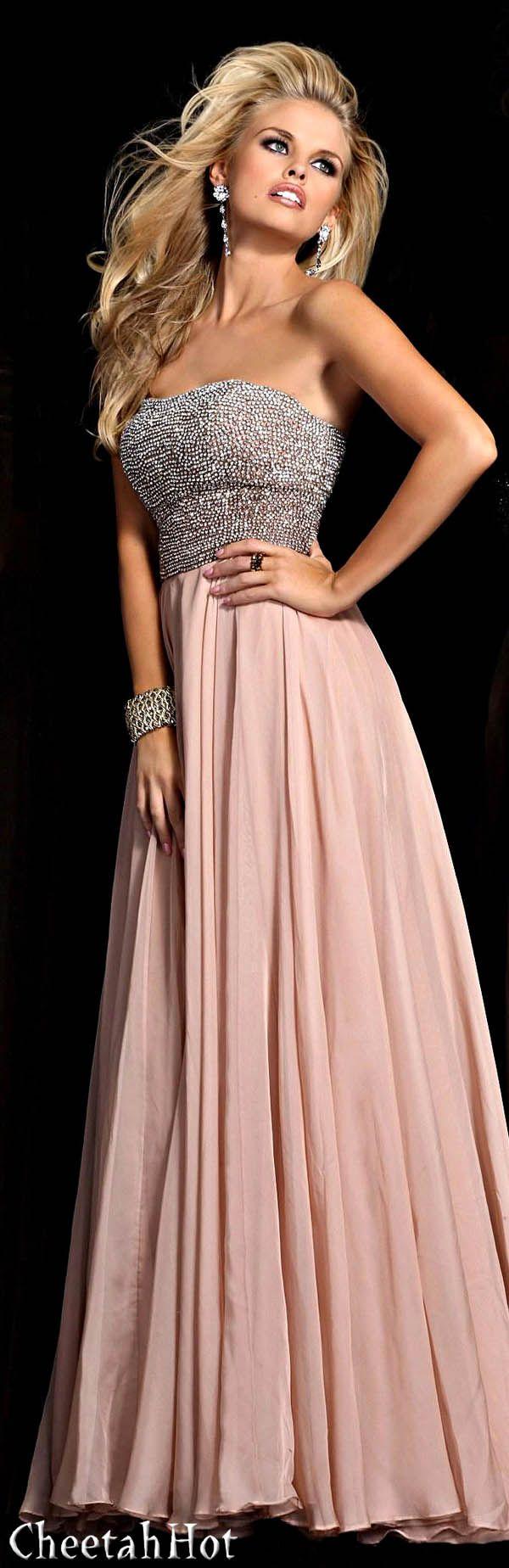 Sherri Hill - Strapless Blush Gown