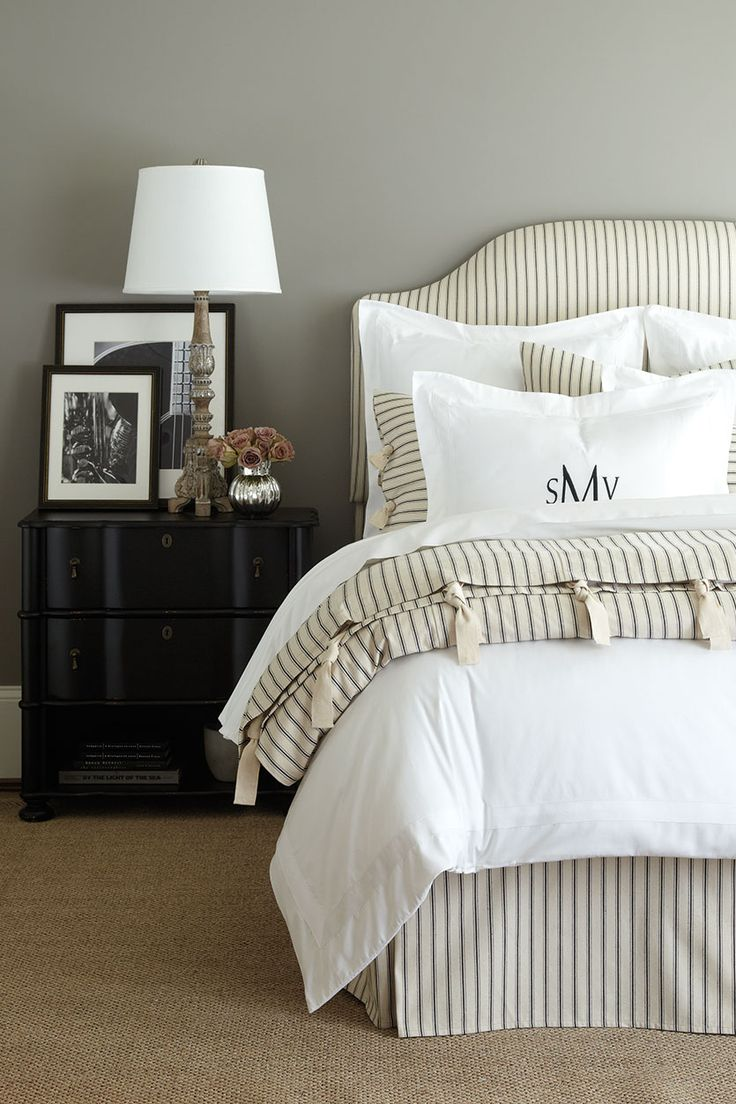best  striped bedding ideas on pinterest  farmhouse bed farm  -  anythingbutboring neutral bedrooms
