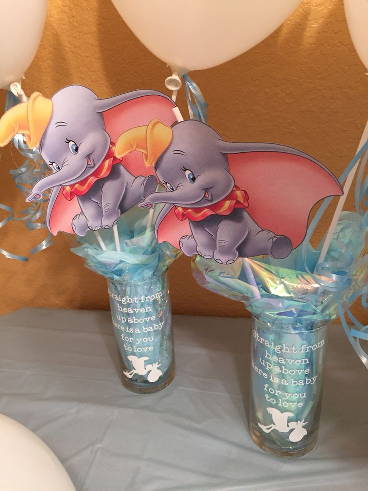 Centerpiece Dumbo Baby Shower Pinterest Centerpieces