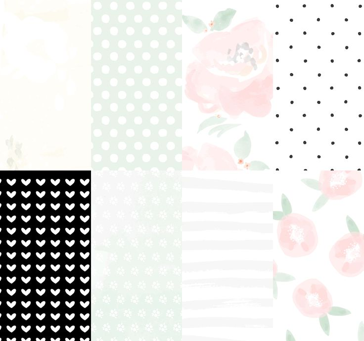 'Molly Rose' Add-On printable Digital Paper Pack. By The Lovely Studio.