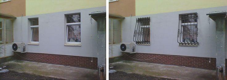 Визуализация металлических решеток на окна