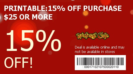 Coupon For Rainforest Cafe