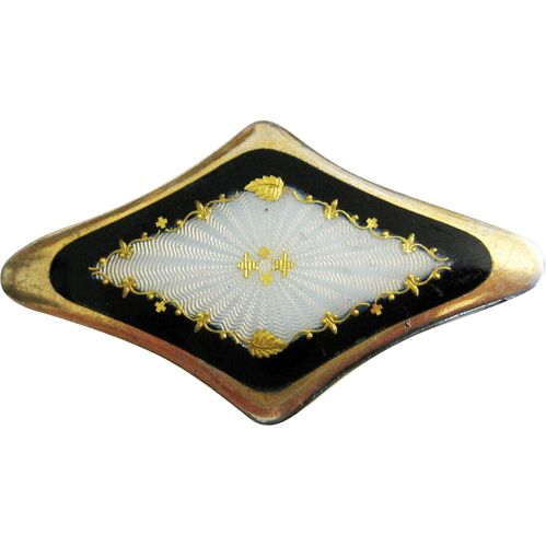 Antique 930S Silver Enamel Brooch Norsk Filigransfabrikk Norway from quick-red-fox on Ruby Lane