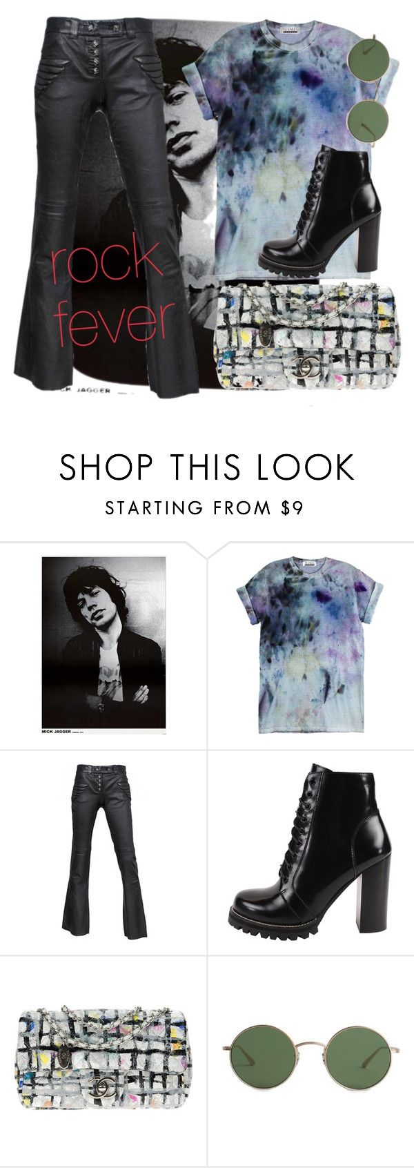 """rock fever!"" by evitaom on Polyvore featuring Jagger, Alexander McQueen, Jeffrey Campbell, Chanel and The Row"