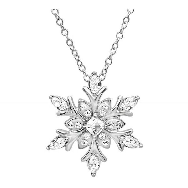 Amanda Rose Collection Sterling Silver Snowflake Pendant-Necklace Made... ($41) ❤ liked on Polyvore featuring jewelry, necklaces, clear, snowflake jewelry, snowflake pendant necklace, clear necklace, sterling silver snowflake jewelry and pendant necklace