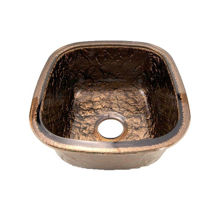 JSG Oceana Undermount Glass 17 In. Kitchen Sink In Cobalt   The Home Depot