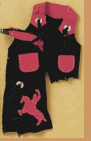 Suede Chaps & Vest Sets - Kid's Western Wear For Baby, Toddler & Children - Kid's Western Apparel - Cowboy Clothes - Boy's Western Suede Chaps & Vest Set  www.smallinthesaddle.com