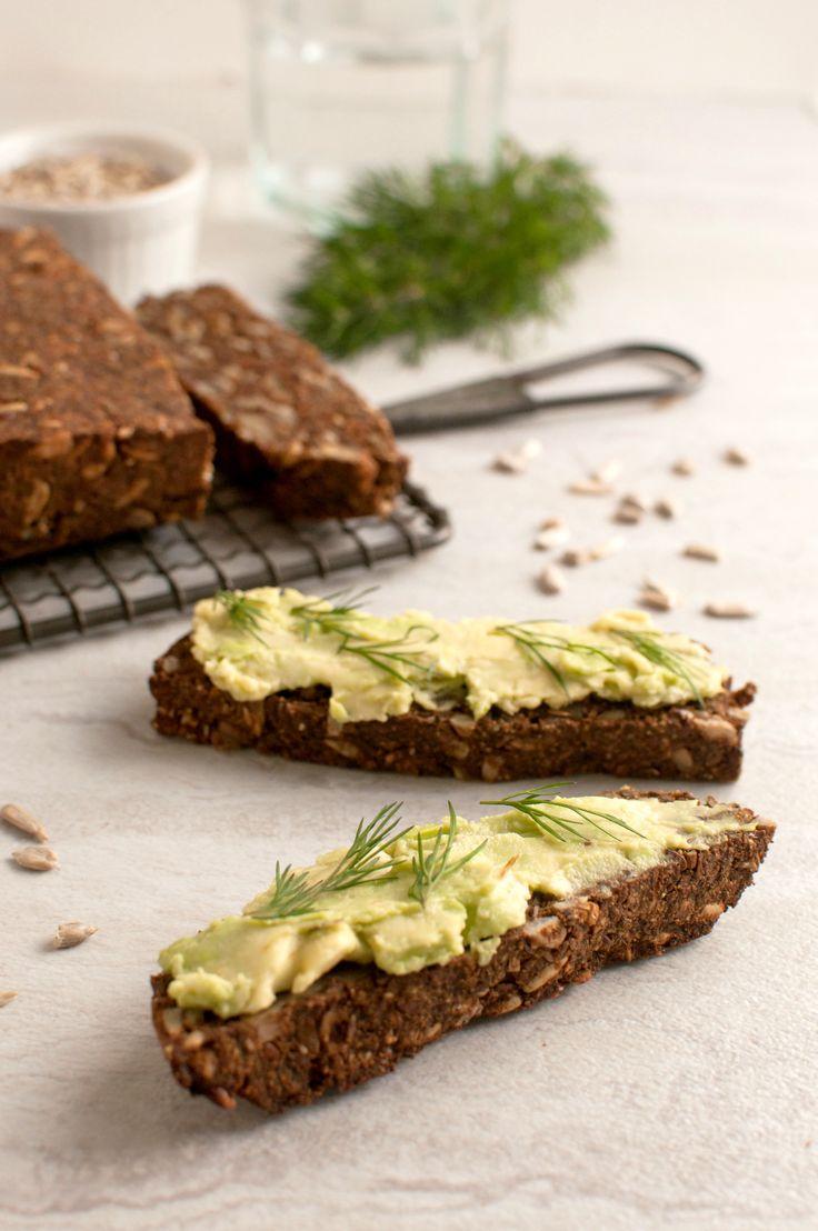 Pumpernickel Nut and Seed Bread (Vegan, Paleo, Gluten Free)