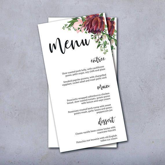 Wedding Menu Wedding Menus Wedding Menu Card Menu Wedding