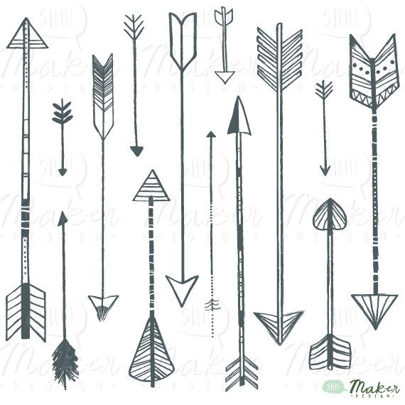 free feathered arrow clip art - photo #15