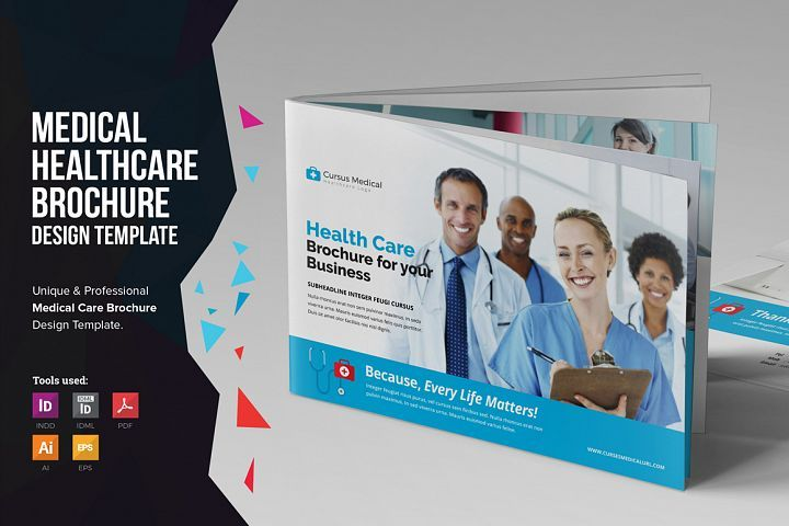 Medical Healthcare Brochure V5 Graphics And Fonts Pinterest