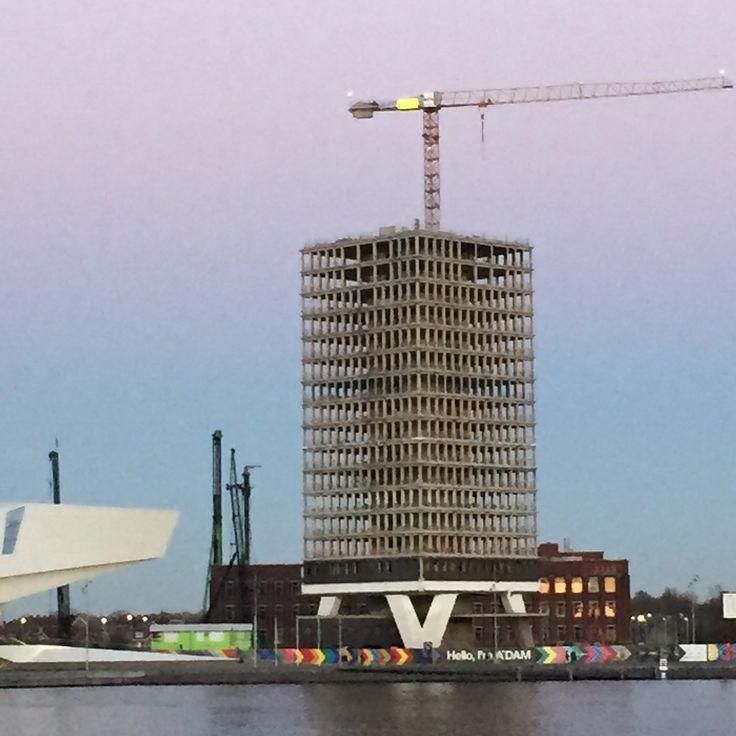 #Amsterdam #ADAM #Shell tower Photography by @JansjeJKF